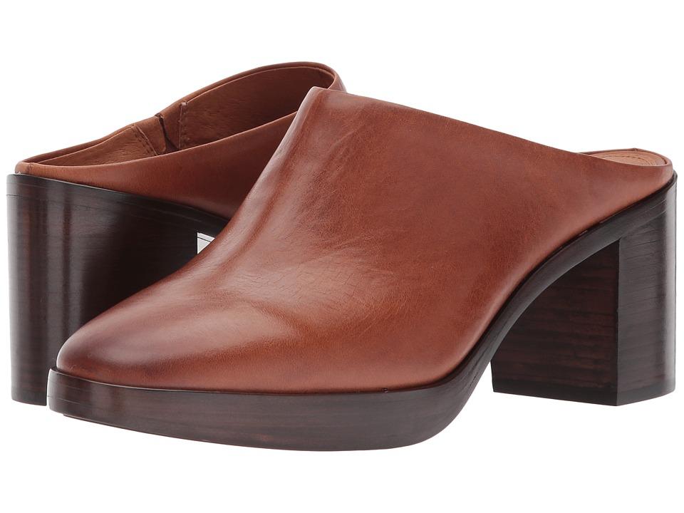 Frye Joan Campus Mule (Redwood Smooth Antique Pull Up) High Heels