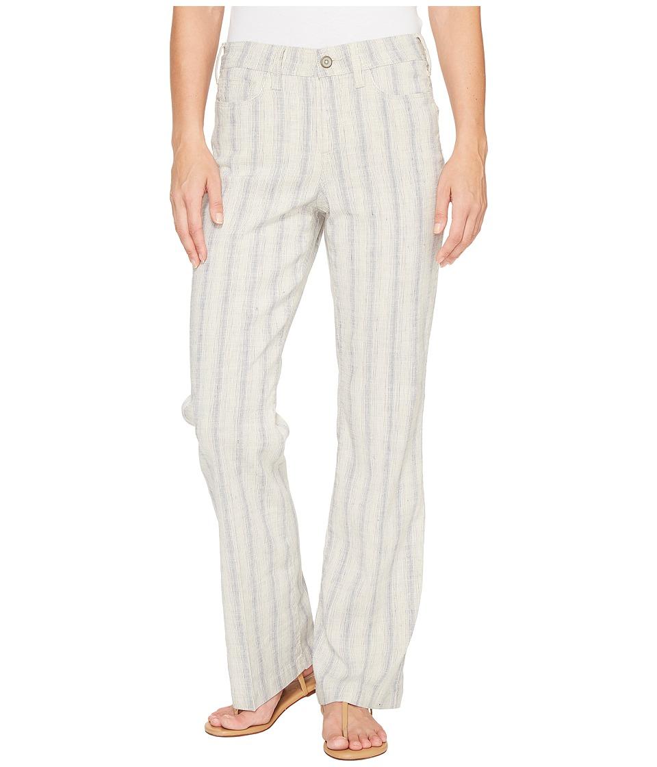 NYDJ Wylie Trouser in Striped Linen (Cap D Antibes Indigo Natural) Women