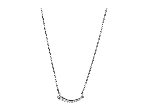 Kendra Scott Whitlee Necklace - Antique Silver Metal/White CZ