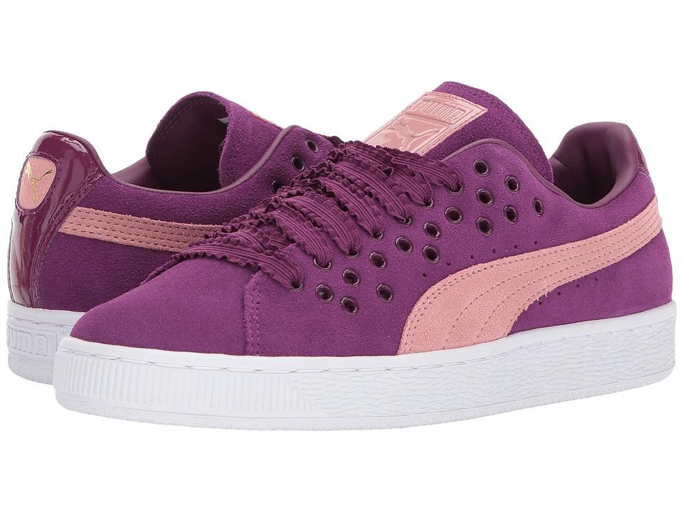 Puma Suede XL Lace (Dark Purple/Cameo Brown) Women's Shoes