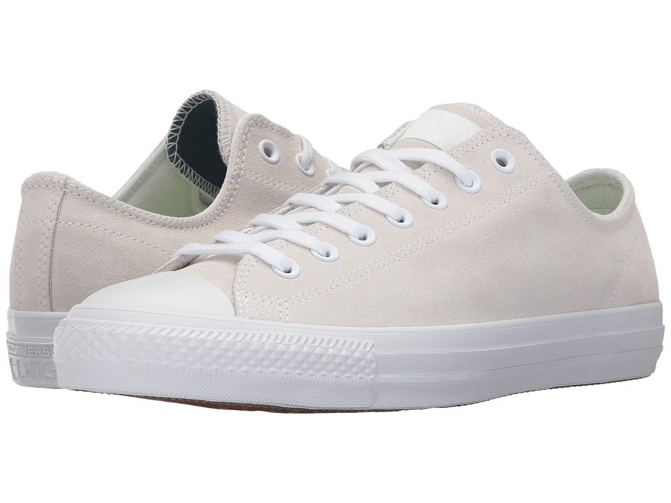 Converse Skate CTAS Pro Ox (White/White/Teal) Lace up casual Shoes