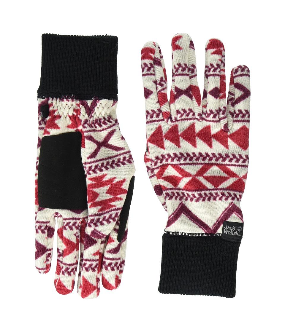 Jack Wolfskin Hazelton Gloves (Scarlet All Over) Extreme Cold Weather Gloves