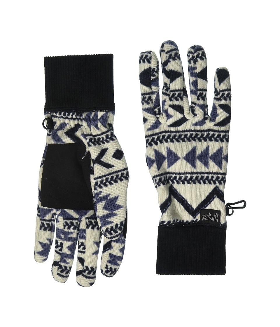 Jack Wolfskin Hazelton Gloves (Midnight Blue All Over) Extreme Cold Weather Gloves