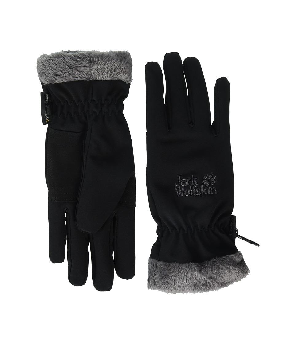 Jack Wolfskin Stormlock Highloft Gloves (Black) Extreme Cold Weather Gloves