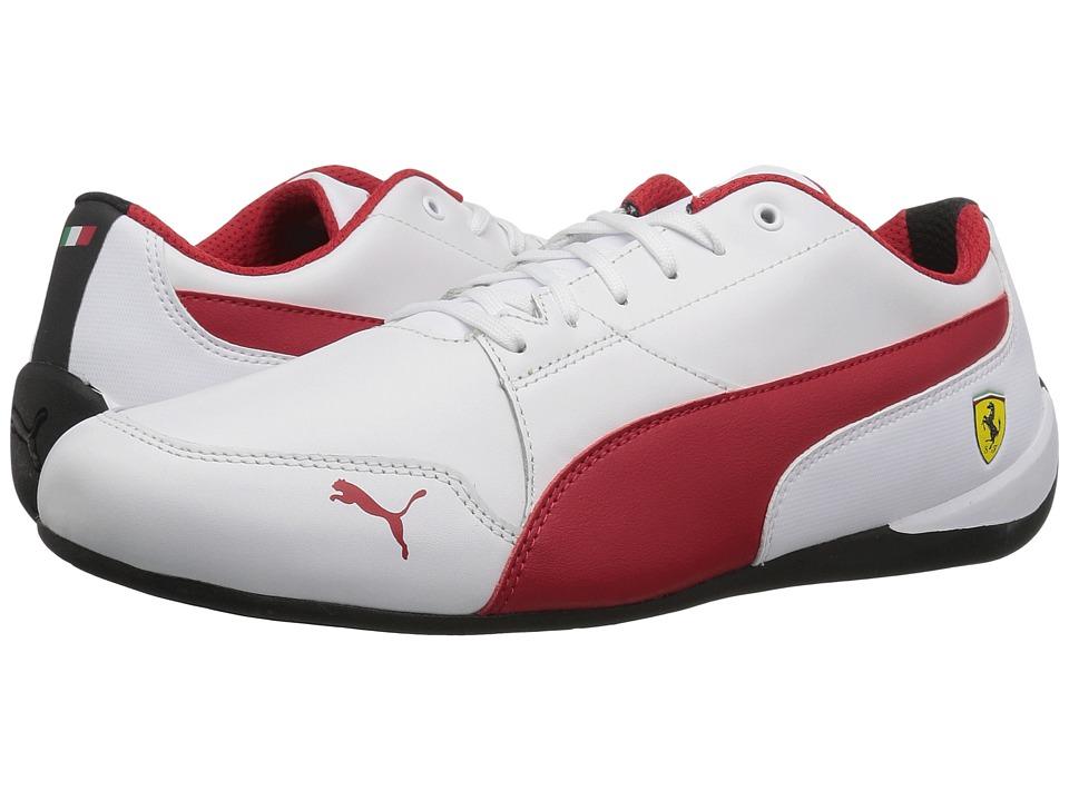 PUMA - SF Drift Cat 7 (Puma White/Rosso Corsa/Puma Black) Mens Shoes