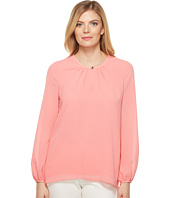 Ellen Tracy - Shirred Neck Blouse