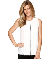 Ellen Tracy - Contrast Piped Pleat Front Shell