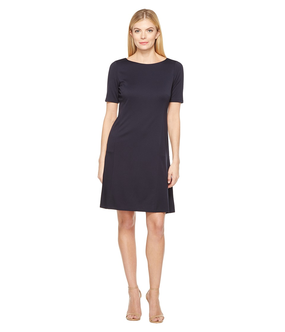 Ellen Tracy - Elbow Sleeve Flounce Dress