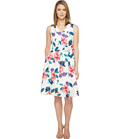 Ellen Tracy - Seamed V-Neck Dress