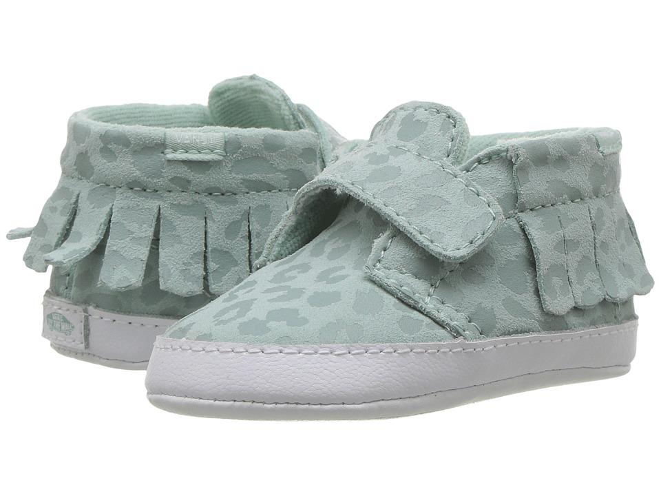 Vans Kids Chukka V Moc Crib (Infant/Toddler) ((Leopard Suede) Harbor Grey) Girls Shoes