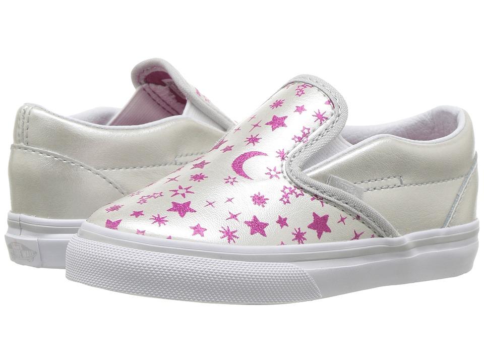 Vans Kids Classic Slip-On (Toddler) ((Star Glitter) Micro Chip/Glitter) Girls Shoes