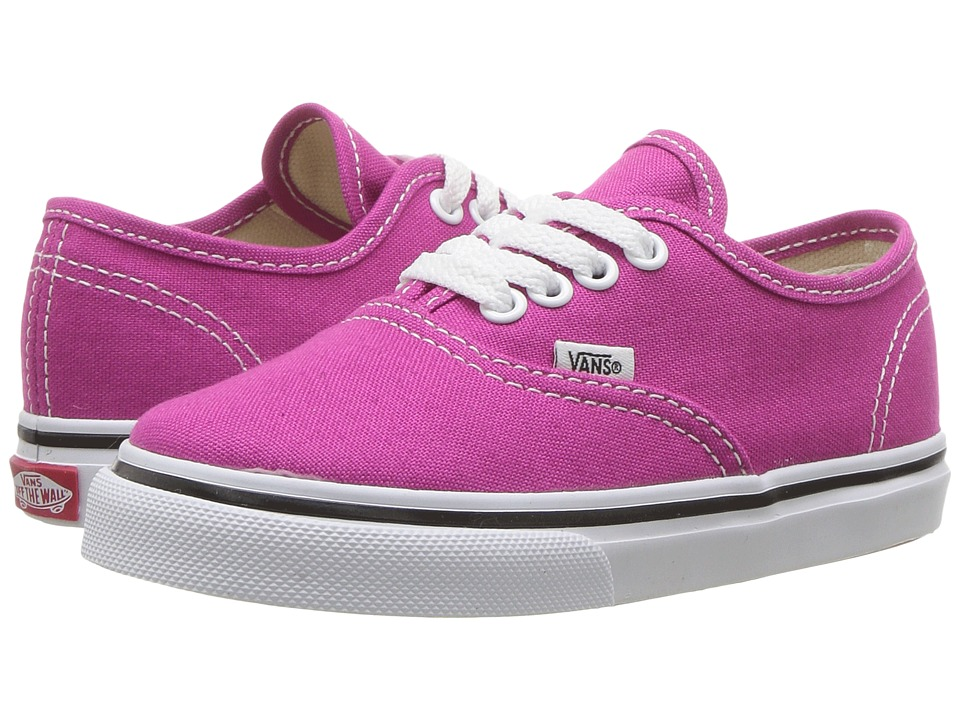 Vans Kids Authentic (Toddler) (Very Berry/True White) Girls Shoes