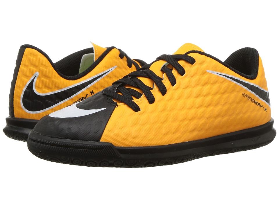 Nike Kids Hypervenom Phade III IC Soccer (Little Kid/Big Kid) (Laser Orange/Black/Black/Volt) Kids Shoes