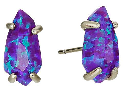 Kendra Scott Jillian Stud Earings - Gold/Purple Kyocera Opal