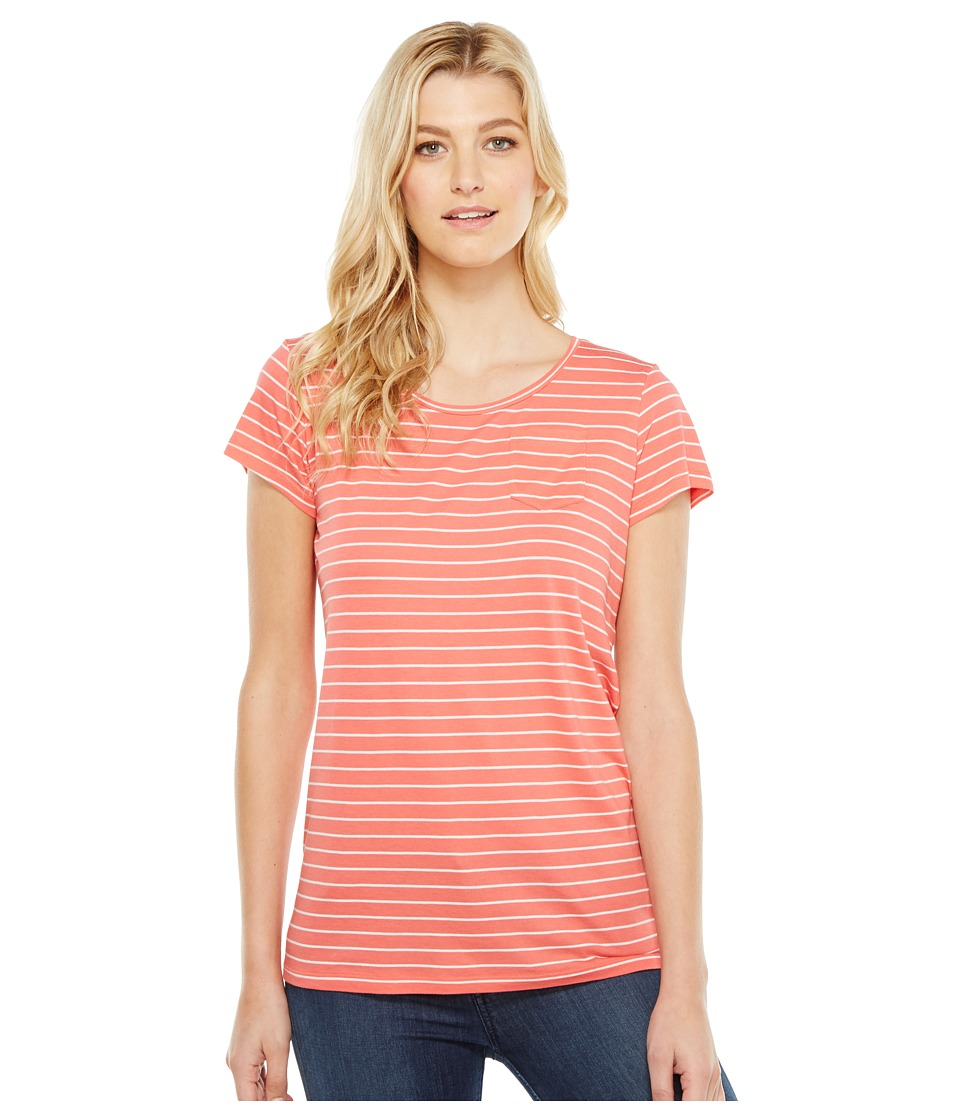 Pendleton Summer Stripe Tee (Coral Pink/White) Women