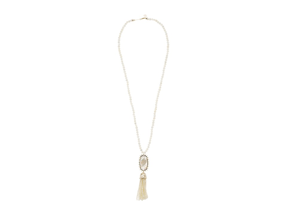 Kendra Scott Tatiana Necklace (Gold/Ivory Mother-of-Pearl...