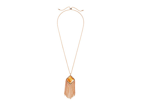 Kendra Scott Kingston Necklace - Rose Gold/Dark Brown Mother-of-Pearl