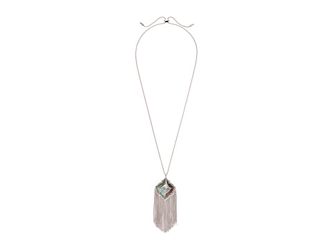 Kendra Scott Kingston Necklace - Rhodium/Black Mother-of-Pearl