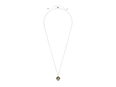 Kendra Scott Kacey Necklace - Rhodium/Black Mother-of-Pearl