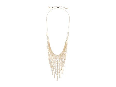 Kendra Scott Georgina Bib Necklace - Gold/White CZ