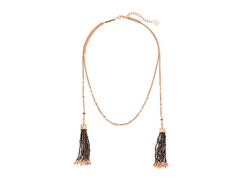 Kendra Scott Monique Collar Necklace - Rose Gold/Dark Brown Mother-of-Pearl Pyrite Beads