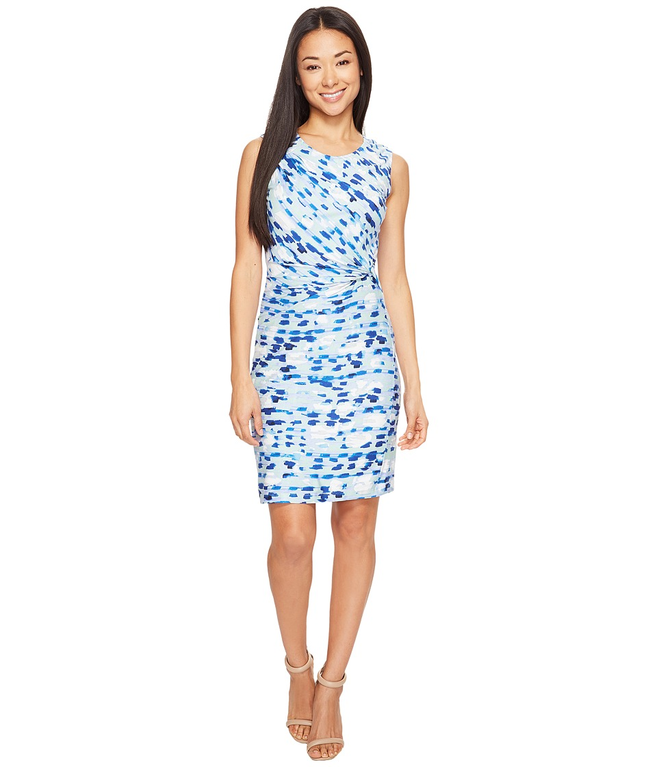 NIC+ZOE Petite Water Lane Twist Dress (Multi) Women