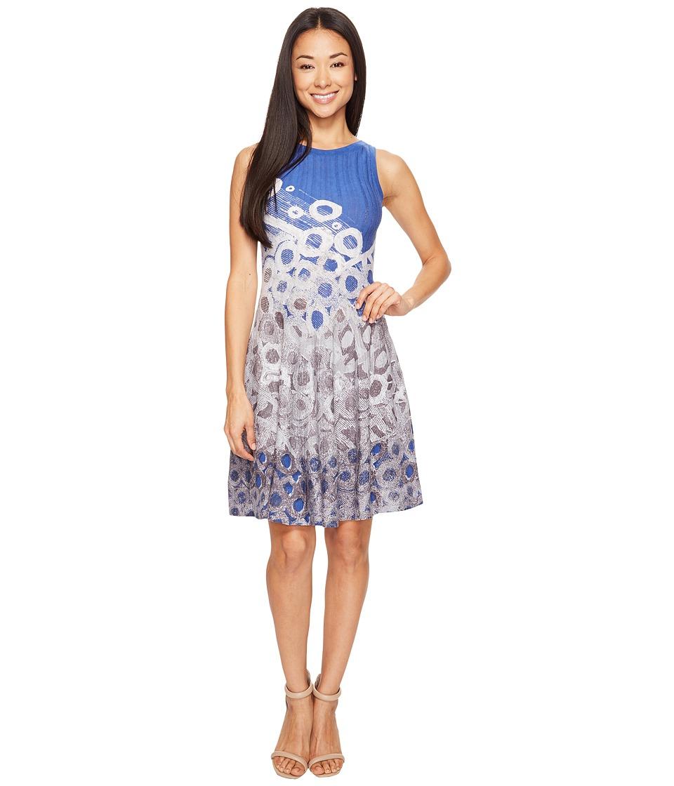 NIC+ZOE Petite Rain Drops Twirl Dress (Multi) Women