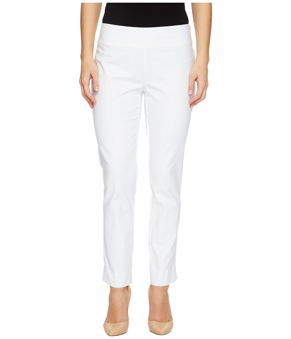 Nic+Zoe Petite Perfect Pants Modern Slim Ankle (Paper Whi...