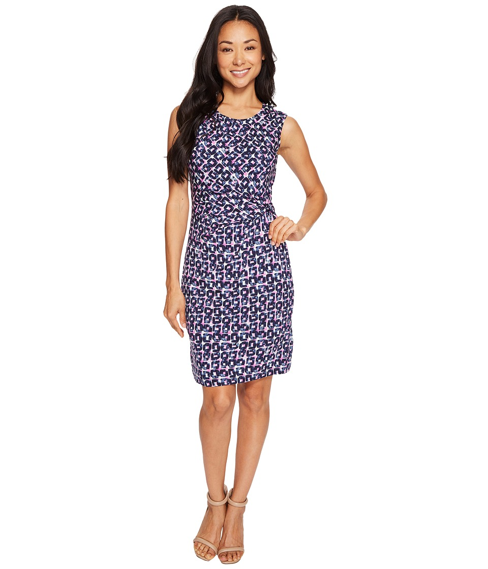 NIC+ZOE Petite Groundwork Dress (Multi) Women