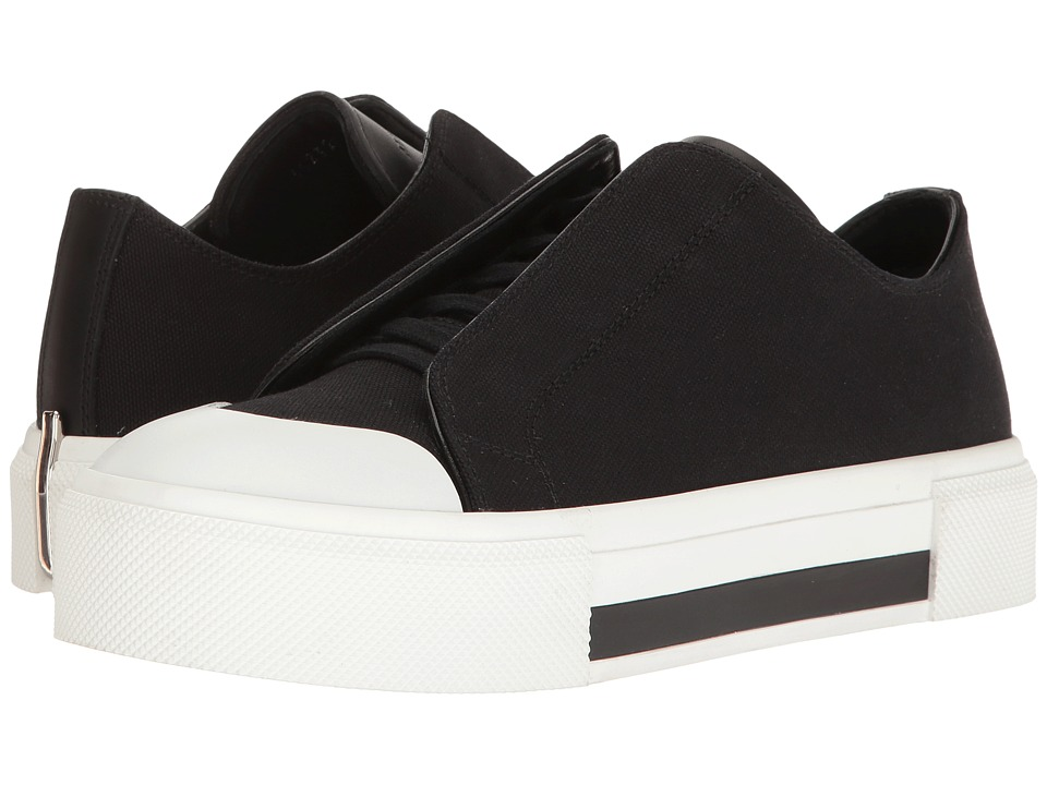 Alexander McQueen Lace-Up Sneaker (Black/White/Black/Black) Women