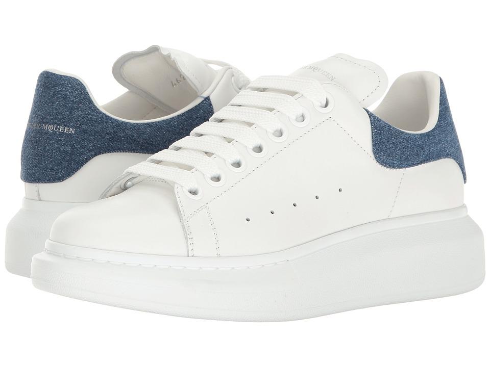 Alexander McQueen Sneaker Pelle S.Gomma (White/Denim) Women