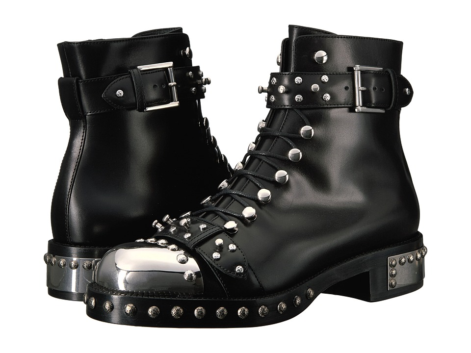 Alexander McQueen-Sti.To Pelle S.Cuoio  (Black) Womens Boots