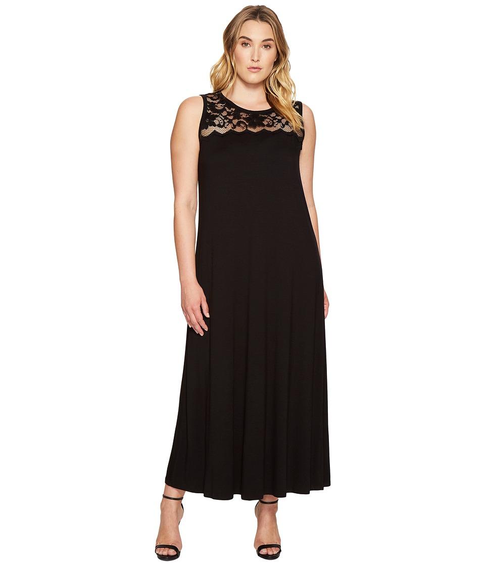 Karen Kane Plus - Plus Size Lace Yoke Maxi Dress