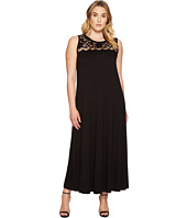 Karen Kane Plus - Plus Size Lace Yoke Maxi Dress