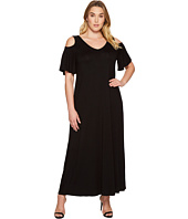 Karen Kane Plus - Plus Size Cold Shoulder Maxi Dress