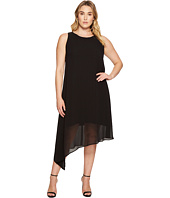 Karen Kane Plus - Plus Size Asymmetric Overlay Dress