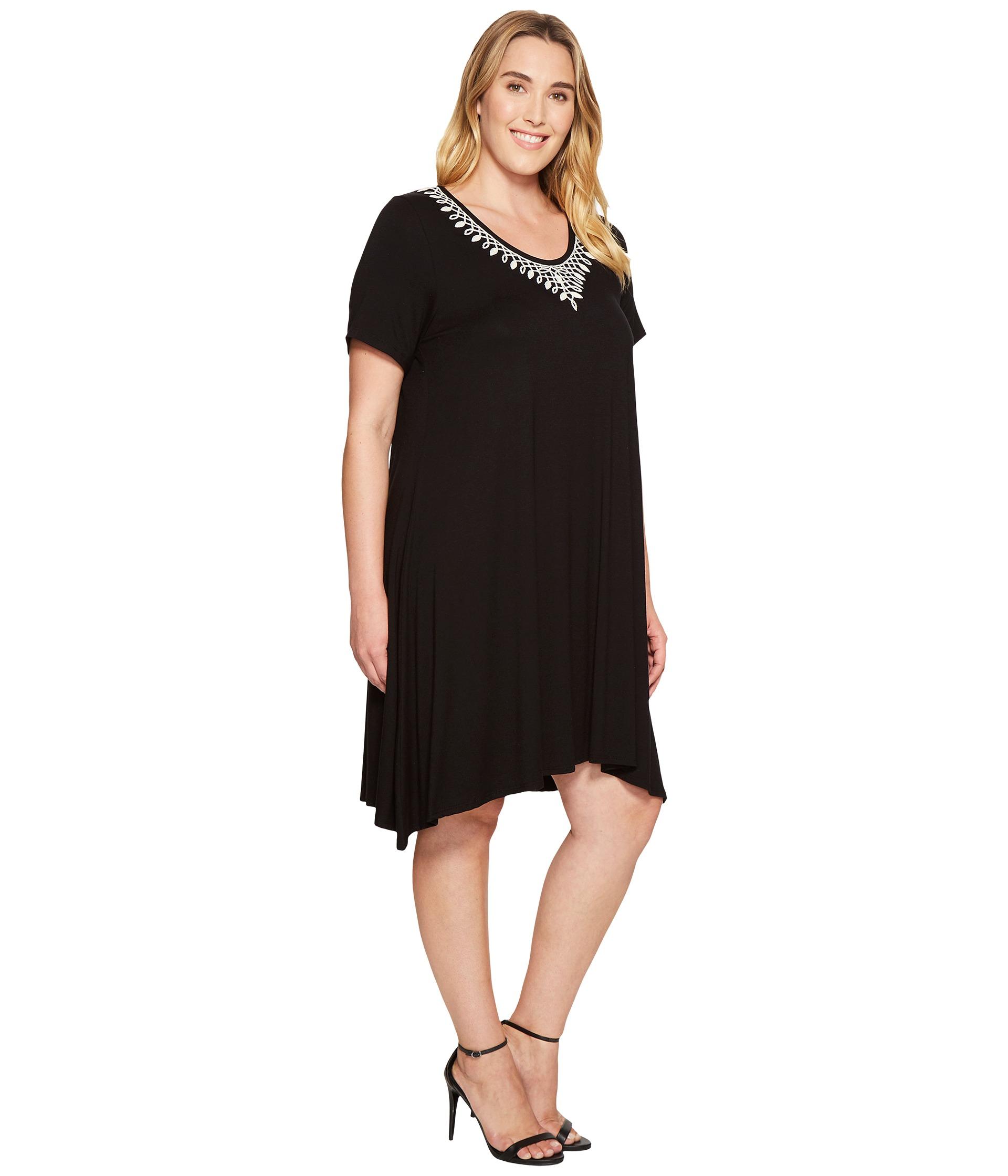 Karen kane plus plus size embroidered handkerchief dress for Handkerchief shirt plus size