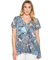 Karen Kane Plus - Plus Size Button Up Handkerchief Top
