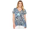 Karen Kane Plus - Plus Size Button Up Handkerchief Top