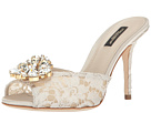 Dolce & Gabbana - Lace/Jeweled Rainbow Lace 85mm Slide
