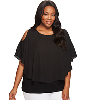 Karen Kane Plus - Plus Size Cold Shoulder Layered Top