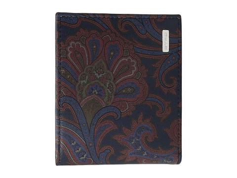Etro Scarf Print Wallet - Blue
