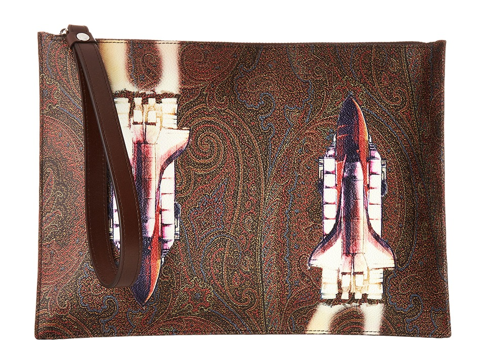 Etro Paisely Rocket Portfolio (Red) Messenger Bags