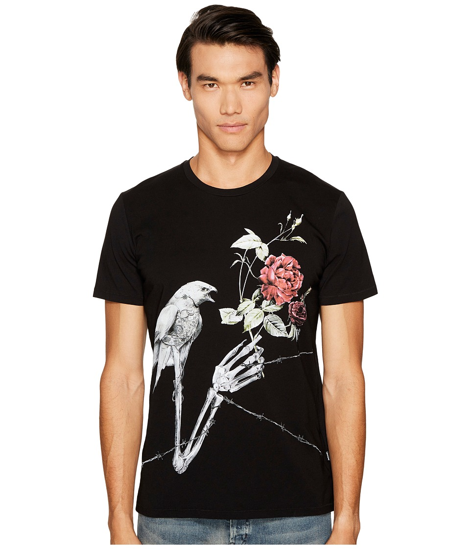 Just Cavalli Rose T-Shirt (Black) Men
