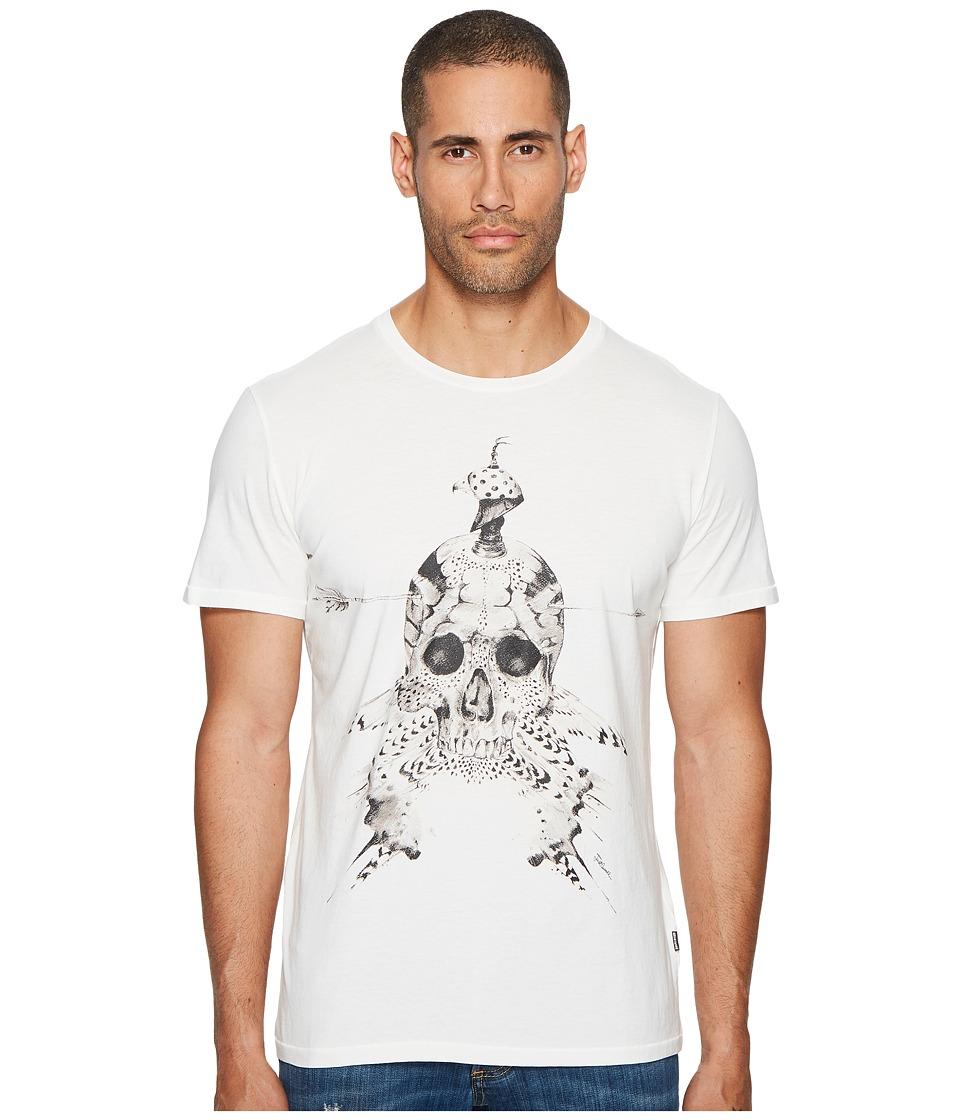 Just Cavalli Feathered Skull T-Shirt (White) Men