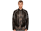 Just Cavalli Contrast Moto Leather Jacket