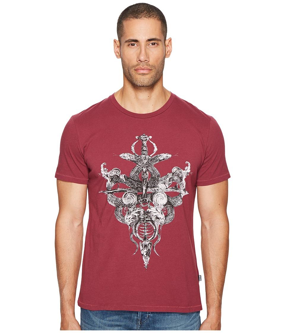 Just Cavalli Skeleton T-Shirt (Damson) Men