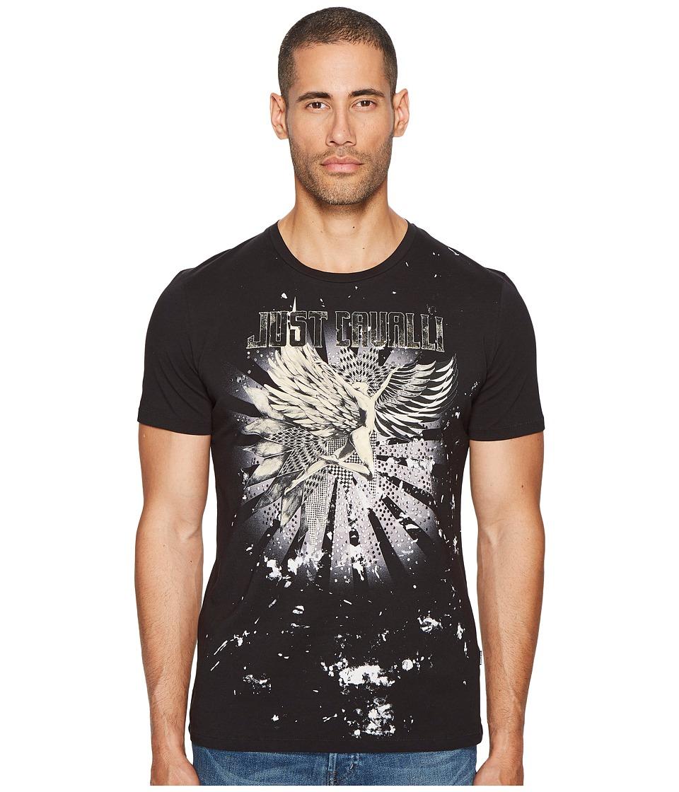 Just Cavalli Angel T-Shirt (Black) Men