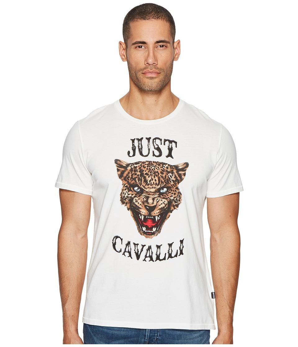 Just Cavalli Cheetah T-Shirt (White) Men