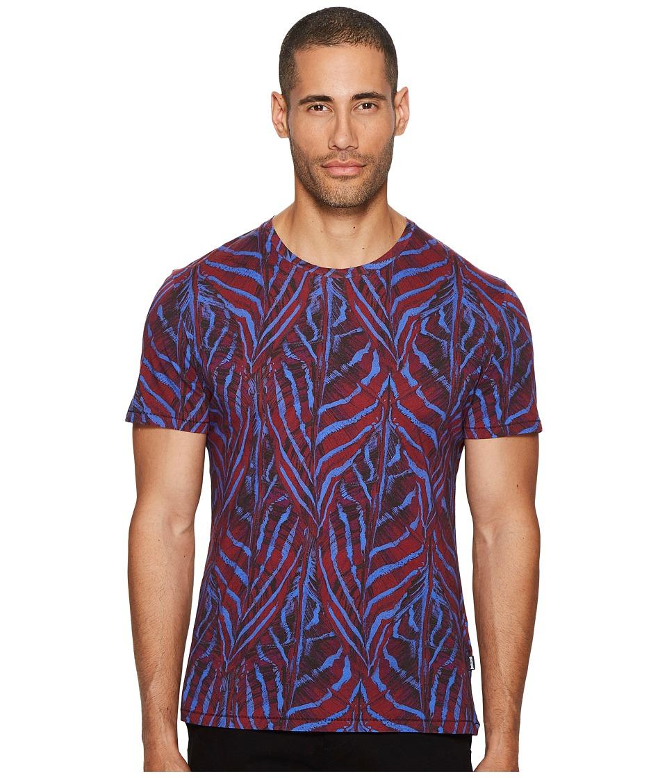 Just Cavalli Camufeather T-Shirt (Bordeaux) Men